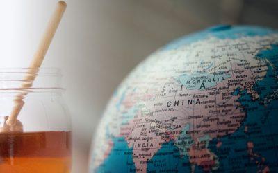 La miel china de baja calidad