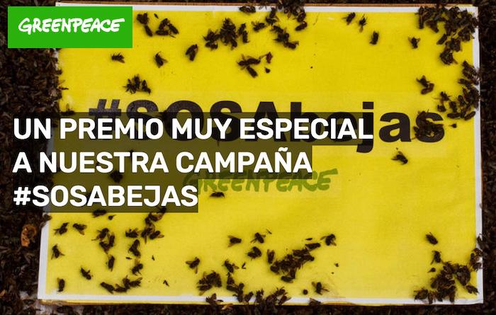 Premio a la campaña de Greenpeace #SOSabejas